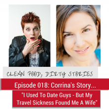 Pic of me and Corrina for help with travel sickness episode