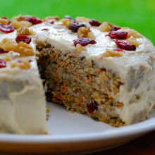 Picture of Carrot Cake for cookery classes in Cambridge