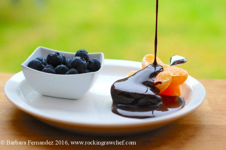 Picture of chocolate fondue recipe