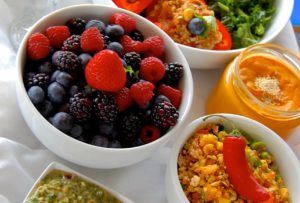 Food for raw food retreats