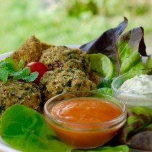 Picture of Falafels for raw food popup at Novi Cambridge