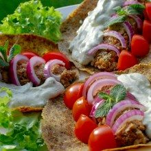 Greek style gyros for 'just eat' catering