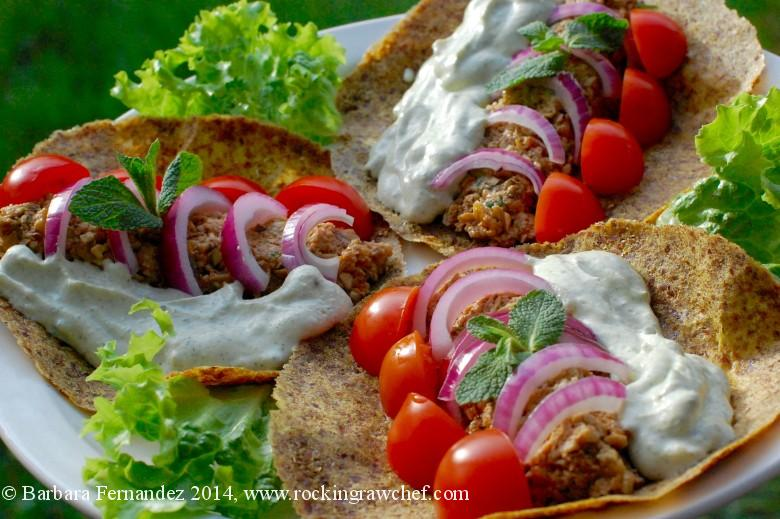 Greek style gyros at raw food cafe for Cambridge