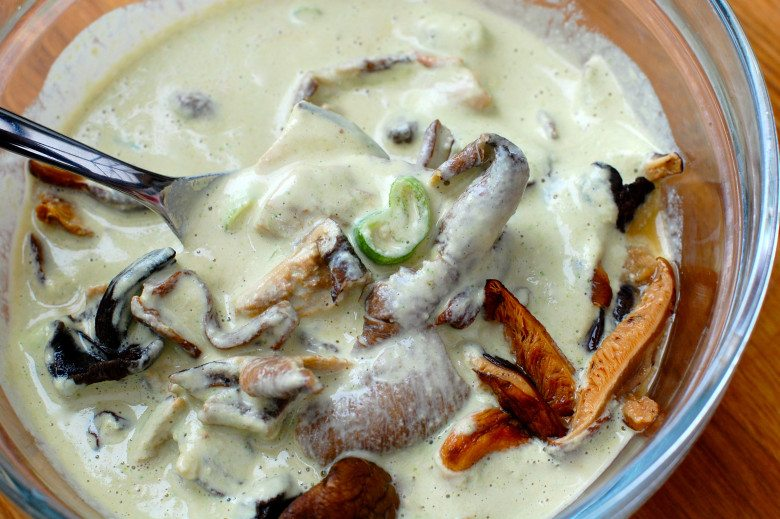 Pic of Tarragon Mushrooms in post does this food look raw